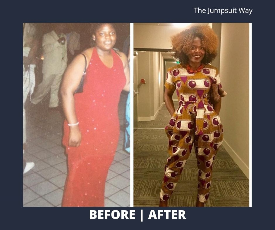 jumpsuit way before and after